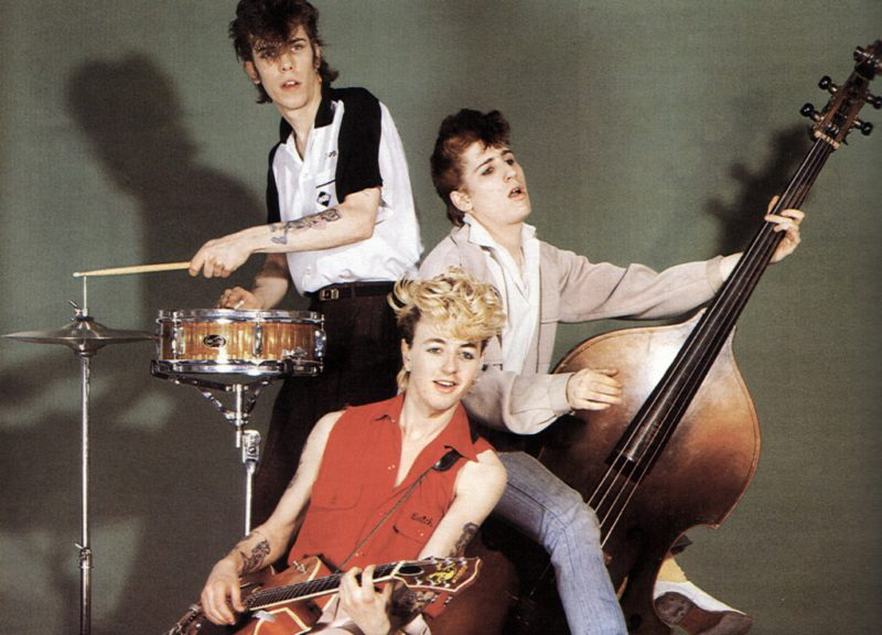 UNSPECIFIED - CIRCA 2000: (AUSTRALIA OUT) Photo of STRAY CATS and Slim Jim PHANTOM and Brian SETZER and Lee ROCKER; L-R: Slim Jim Phantom, Brian Setzer, Lee Rocker - posed, studio, group shot (Photo by GAB Archive/Redferns)