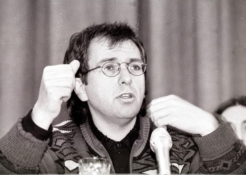 Peter Gabriel на пресс-конференции в Москве