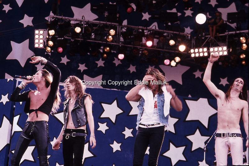 Skid Row ;Moscow Music Peace Festival; August 12, 13, 1989; Photo Credit: Eddie Malluk