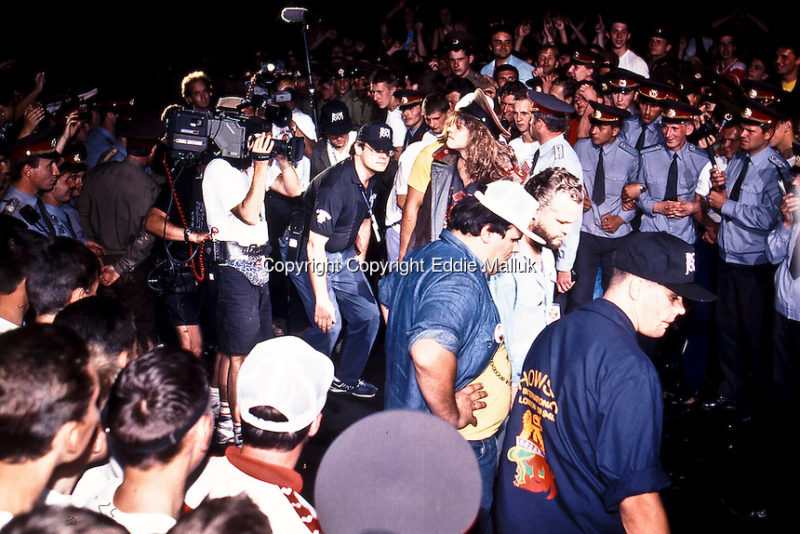 Bon Jovi ; Jon Bon Jovi; Moscow Music Peace Festival; August 12, 13, 1989; Photo Credit: Eddie Malluk