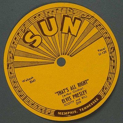 Пластинка Элвиса на фирме Sun records