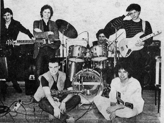 1984 год: Игорь Матвиенко (клавишные); Олег Кацура (гитара, вокал); Николай Сафонов (ударные); Игорь Ерастов (гитара); Сергей Мазаев (альт-саксофон), Сергей Попов (гитара)
