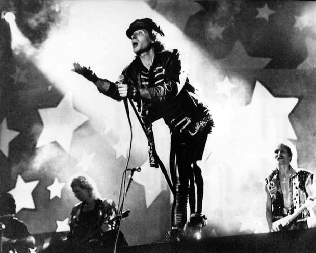Scorpions at the Moscow Music Peace Festival on August 13, 1989. AP